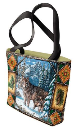 Wolf Lodge Tote Bag