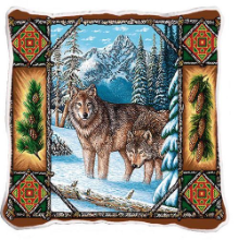 Wolf Lodge Pillow Cover