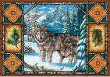 Wolf Lodge Placemat
