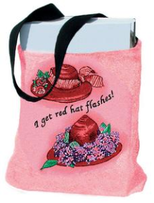 Red Hattitude/Flash Tote Bag