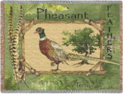Pheasant Feathers Throw