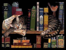 Max in the Stacks Placemat by Charles Wysocki