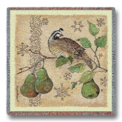 Partridge and Pears Lap Square