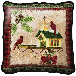 Christmas in the Garden Pillow