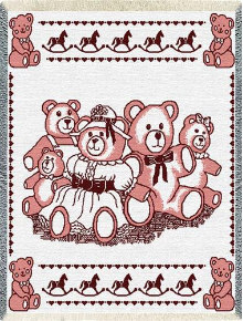 Bears Mini Pink Throw