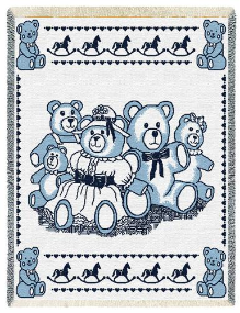 Bears Mini Blue Throw