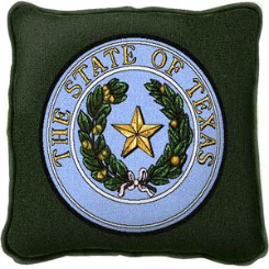 Texas State Seal Pillow