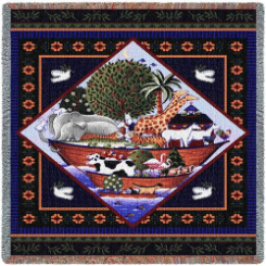 Noah's Ark Lap Square by Coco Dawley