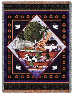 Noah's Ark Throw by Coco Dawley