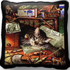 Max in the Adirondacks Cat Pillow by Charles Wysocki