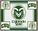 Colorado State University logo throw