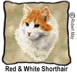 Red and White Shorthaired Cat