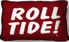 University of Alabama Roll Tide Pillow