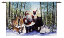SANTA IN THE FOREST WALL HANGING    2395-WH