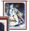 SANTA & POLAR BEARS WALL HANGING    2403-WH